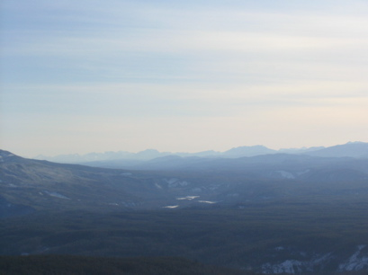 Alaska Highway, from the top of Steamboat