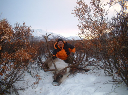 Cam Kirkpatrick photo - Lawrie with his caribou