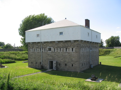 The blockhouse where the soldiers lived (150 of them at times)