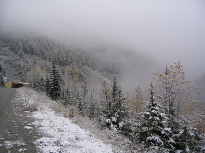First snow on Mount Revelstoke, Monday October 18, 2004