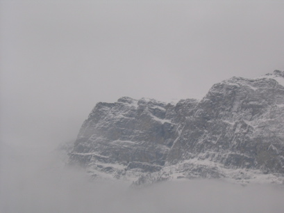Peaks in the mist, Banff