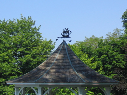Weathervane at park at the mouth of the Niagara River