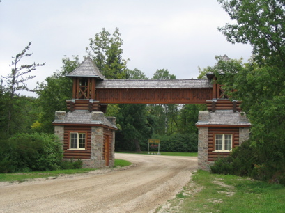 The East gate entrance at Riding Mountain
