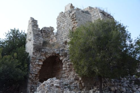 Remains of the central tower