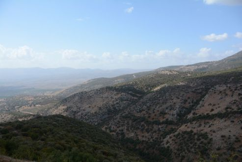 Looking towards the Sea of Galilee from the main tower