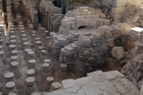 Hypocaust heating system in the bathhouse