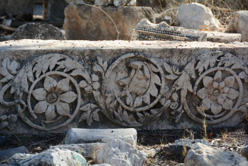 This gem of carved frieze was found in the 'spare part graveyard'
